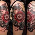Rose Mandala Skull.